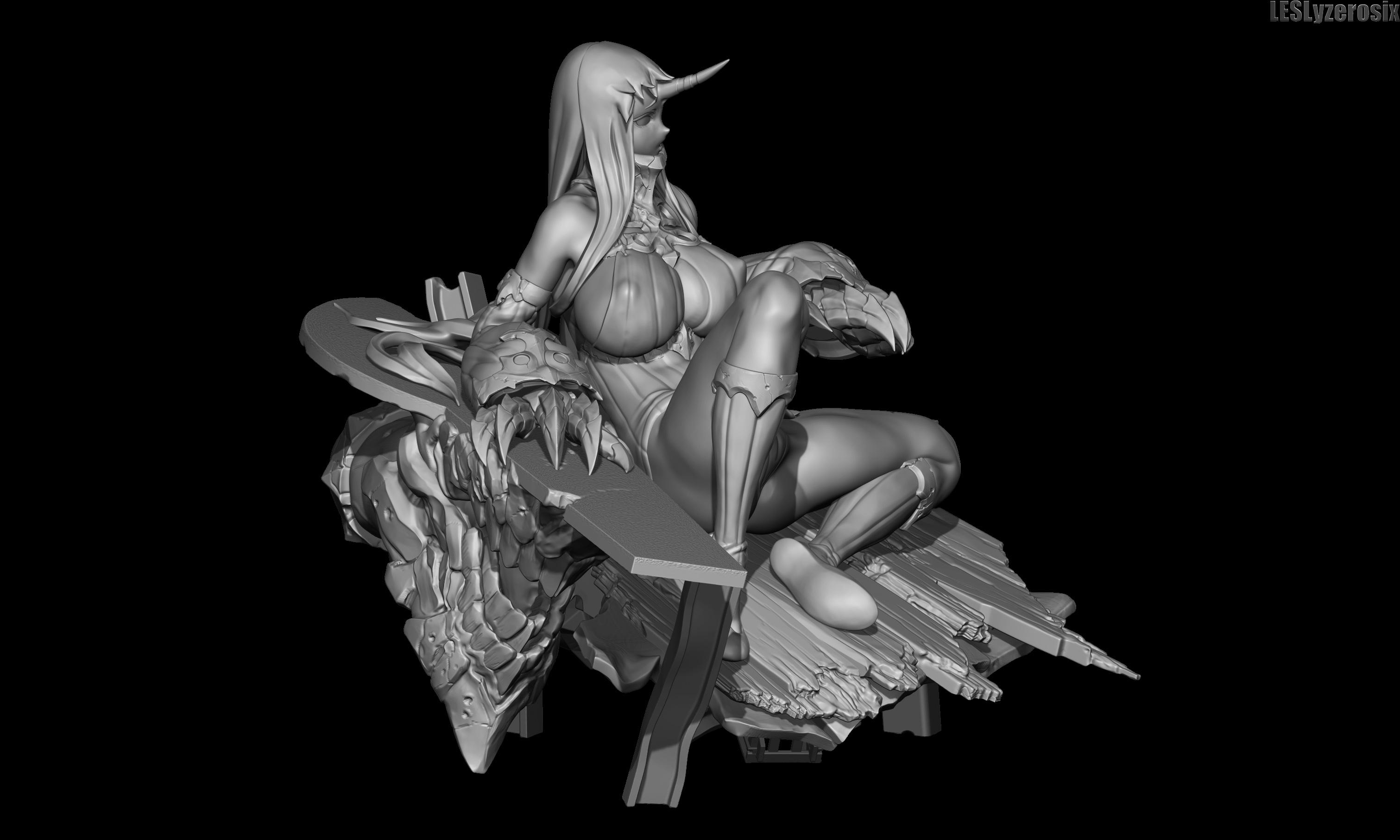 二次元风格3D角色设计  LESLyzerosix 3D Art-FANCHENBIZ