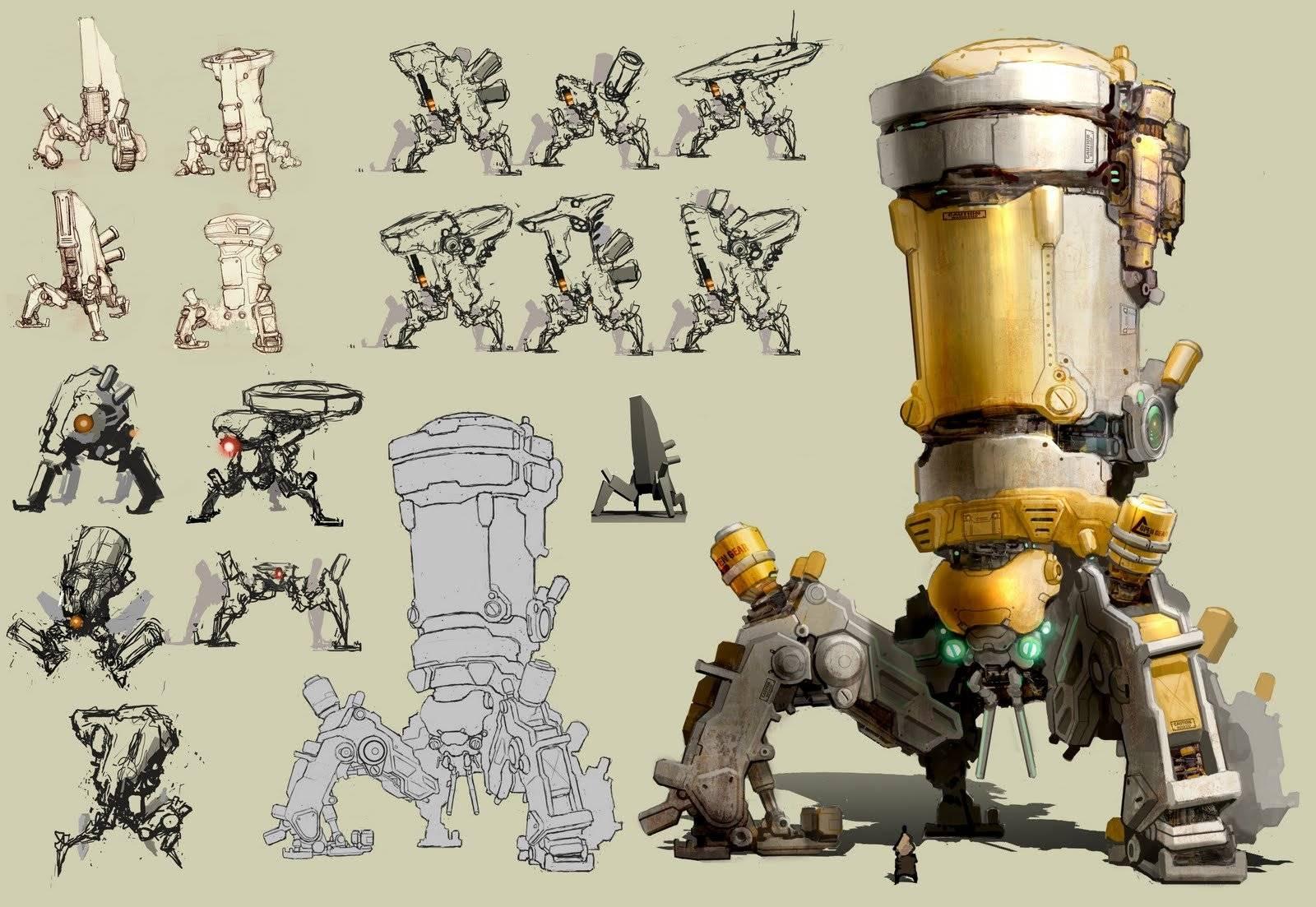 设定画集 未来机械机器人设定3D+2D原画集 1.21G-FANCHENBIZ