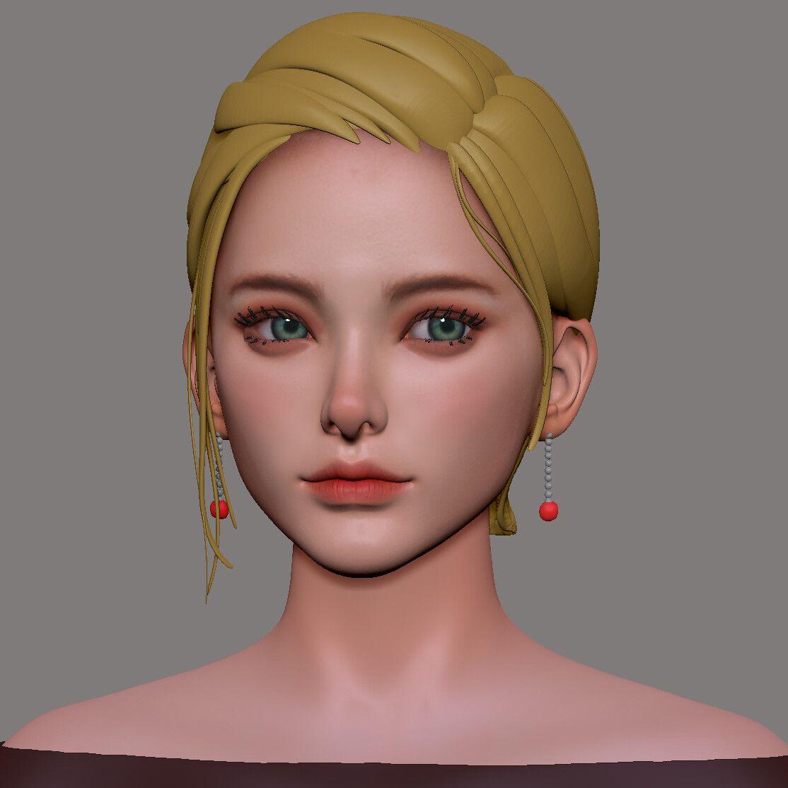 韩国艺术家Soo Hwang 角色头像3D作品-FANCHENBIZ