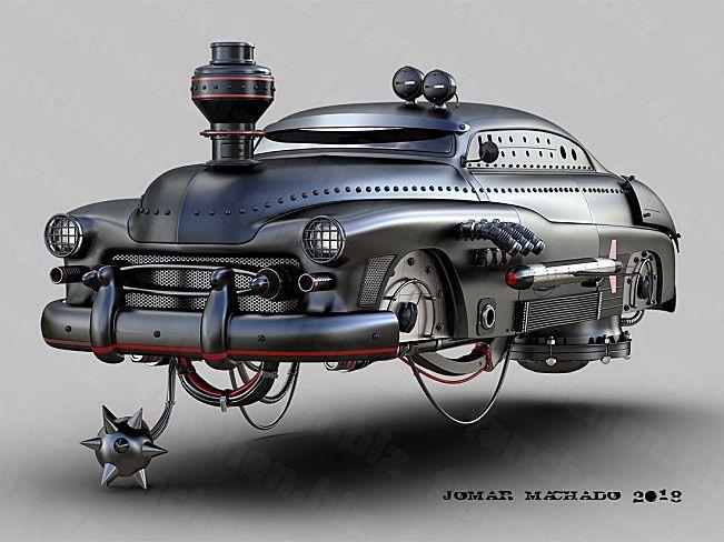 巴西艺术家Machadoj 赛车 汽车 飞车 炮车3D作品