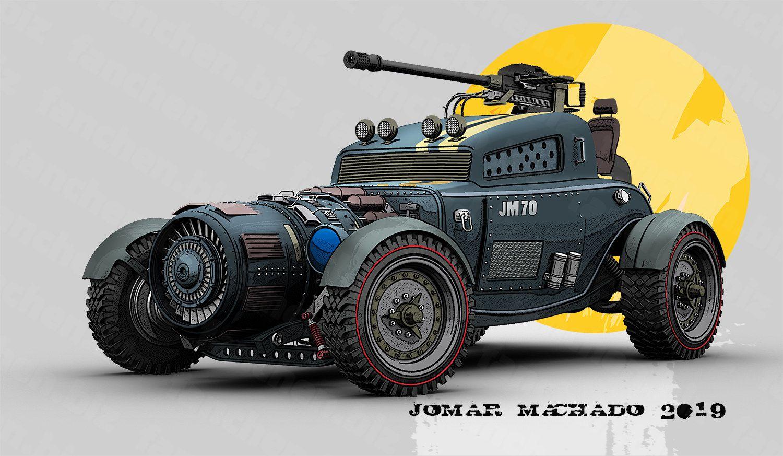 巴西艺术家Machadoj 赛车 汽车 飞车 炮车3D作品-FANCHENBIZ