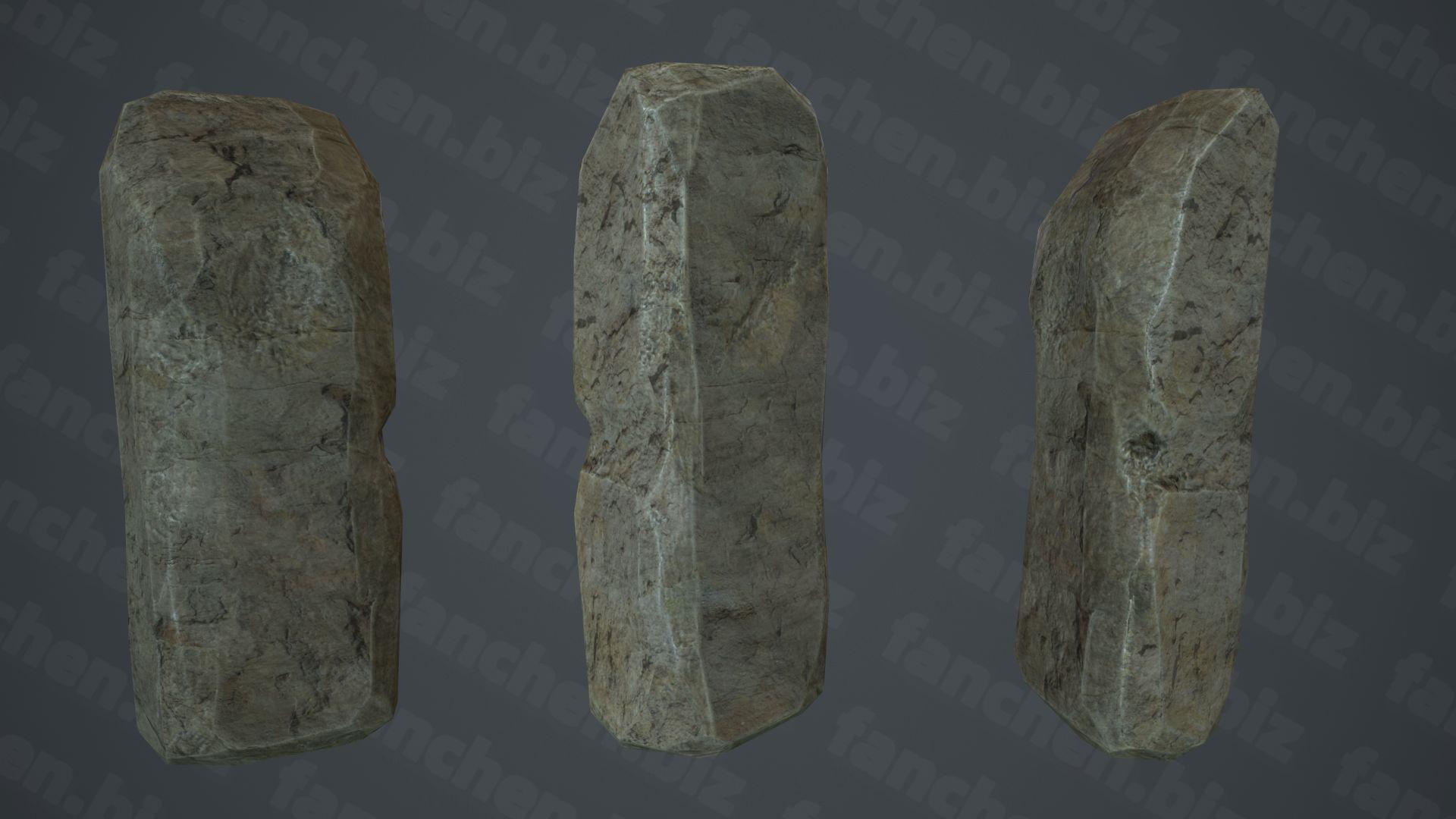 Polycount岩石类3D作品合集-FANCHENBIZ