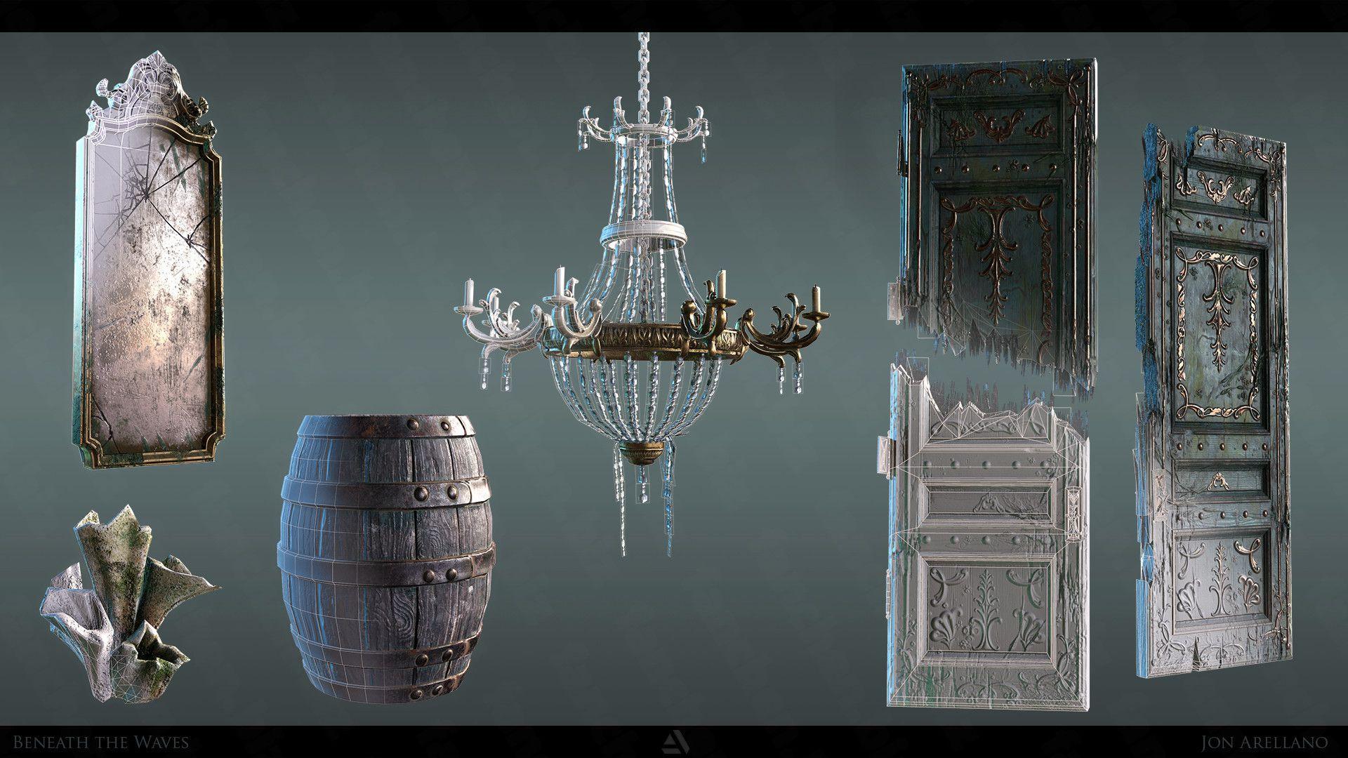 美国艺术家Jon Arellano写实城堡场景3D作品 125.5M-FANCHENBIZ
