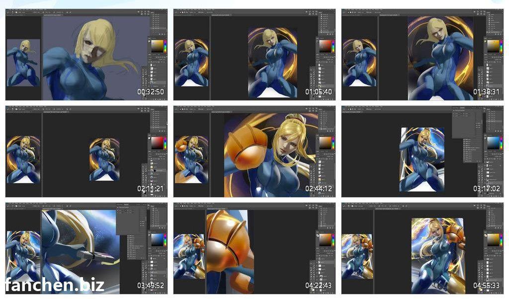 Zumi画师 创作教程 附4K原图+PSD+视频 16G-FANCHENBIZ