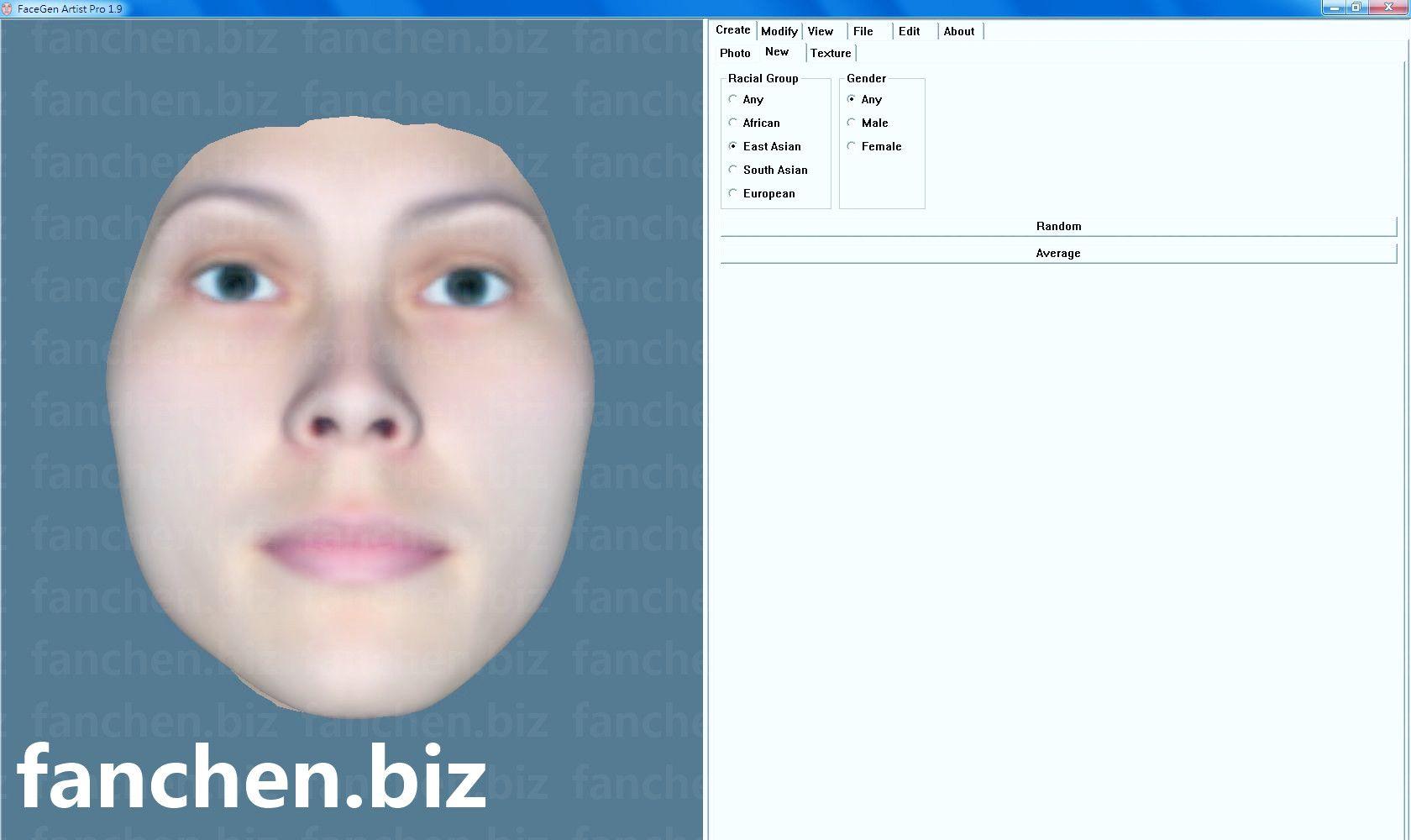 脸部模型创建软件 FaceGen Artist Pro 2.1 中文破解版 380M-FANCHENBIZ