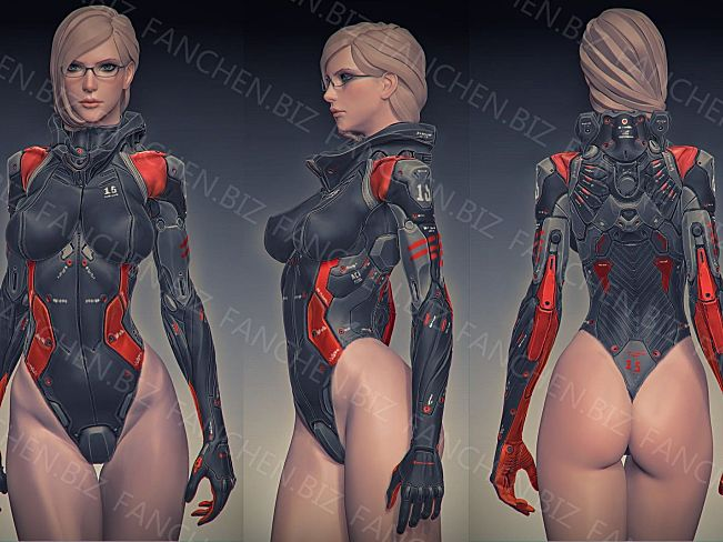 3D作品 人形装甲机械游戏原画CG作品合集 865.38M