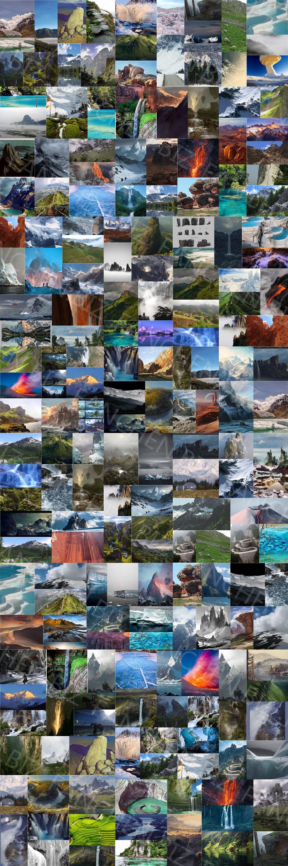 山石岩石摄影绘画参考素材合集 2.3G-FANCHENBIZ