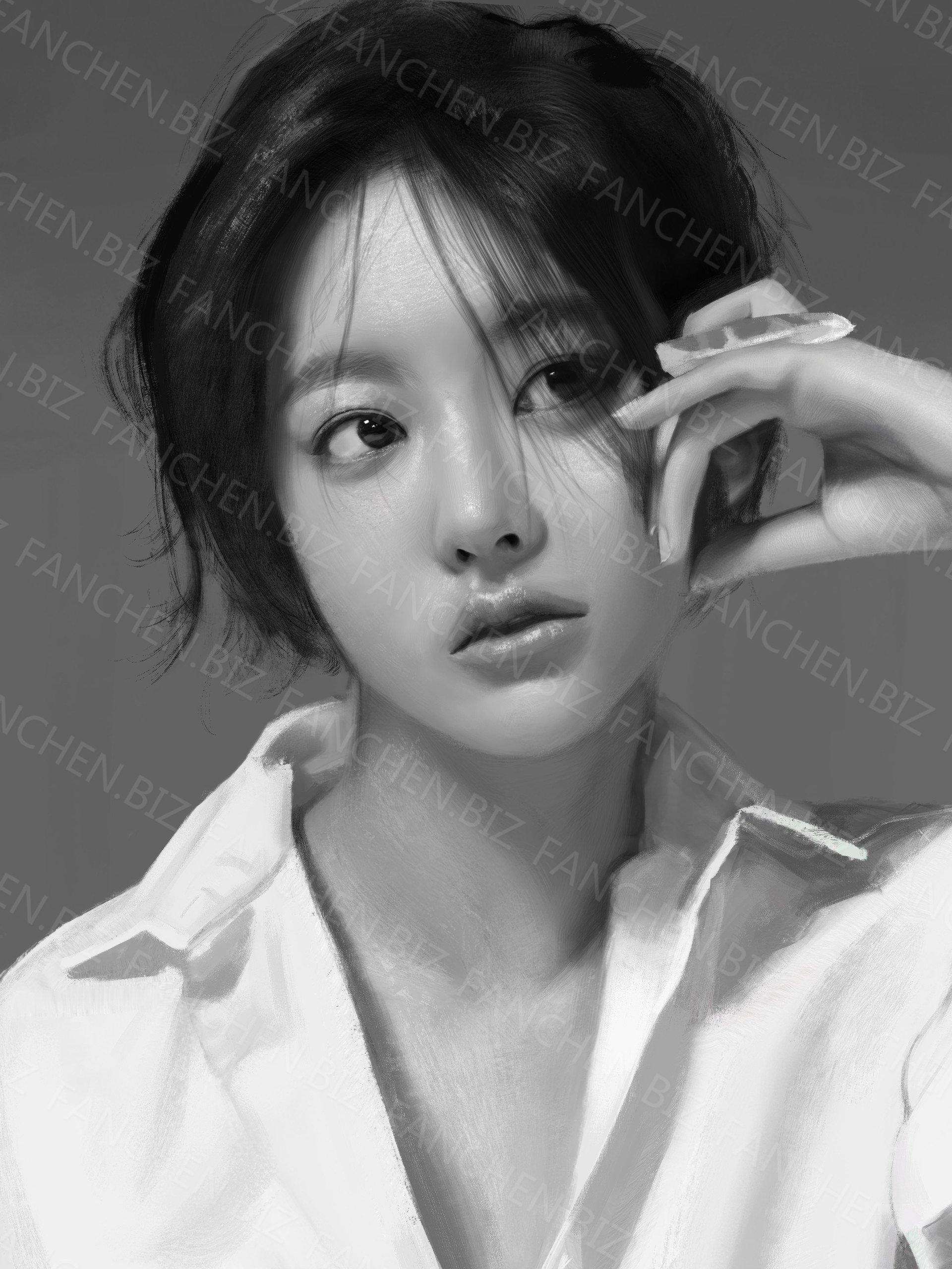 韩国画师 Minsung Jeon真人手绘插画作品合集 41.61M-FANCHENBIZ